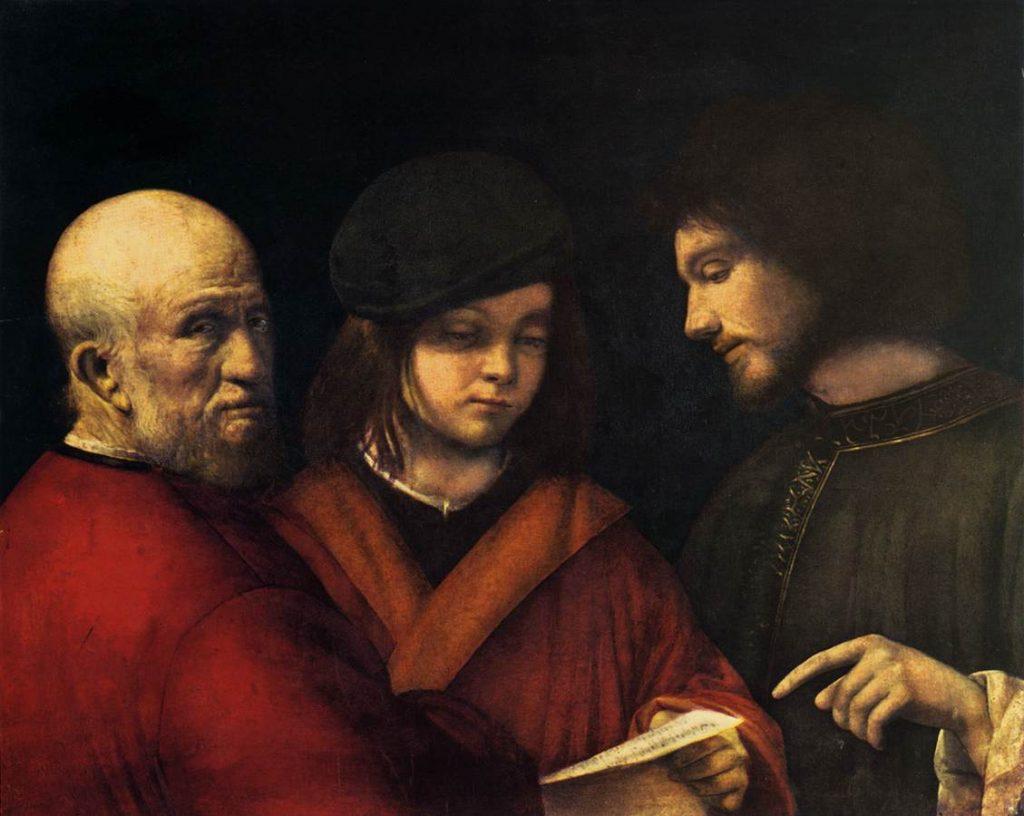 """Les 3 âges"", de Giorgione (1477-1510)"